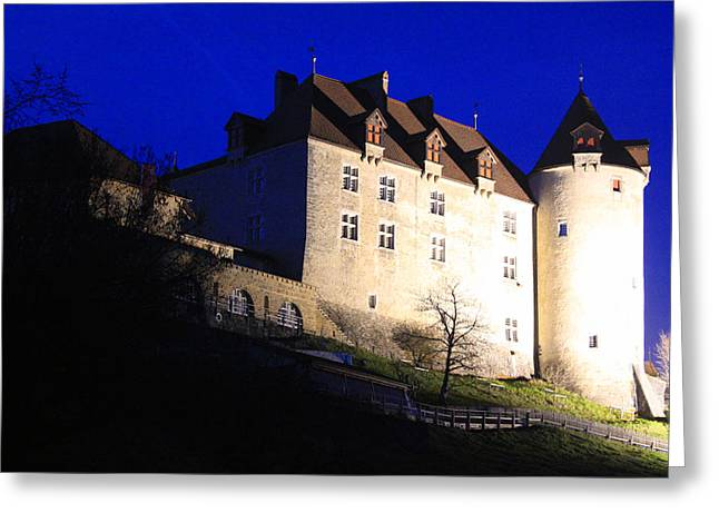 Gruyere Greeting Cards - Chateau de Gruyeres Greeting Card by Sergei Dikler