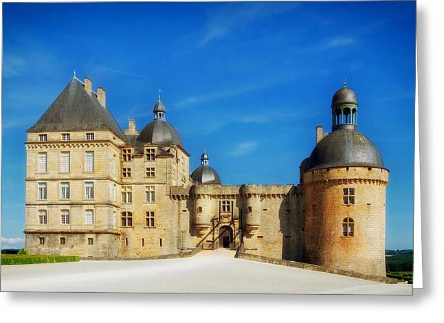 Chateau Greeting Cards - Chateau de Hautefort - France Greeting Card by Mountain Dreams