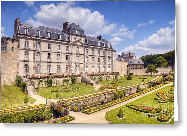 Brittany Greeting Cards - Chateau de l Hermine Vannes Brittany Greeting Card by Colin and Linda McKie