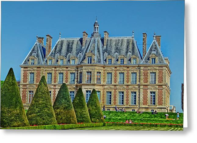 Hdr Landscape Greeting Cards - Chateau de Sceaux in France Greeting Card by Mountain Dreams