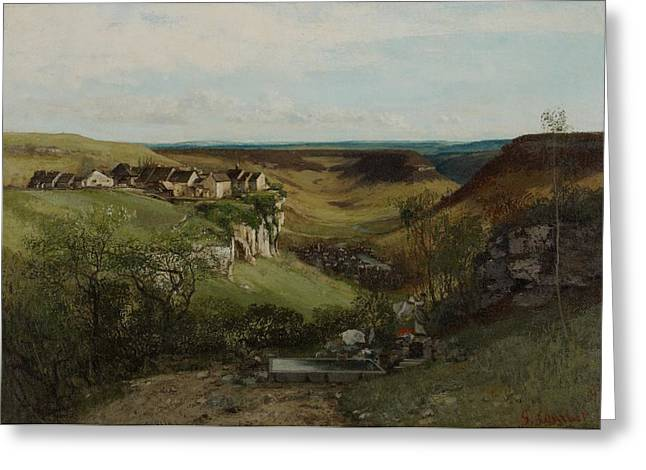 Washerwomen Greeting Cards - Chateau dOrnans Greeting Card by Gustave Courbet