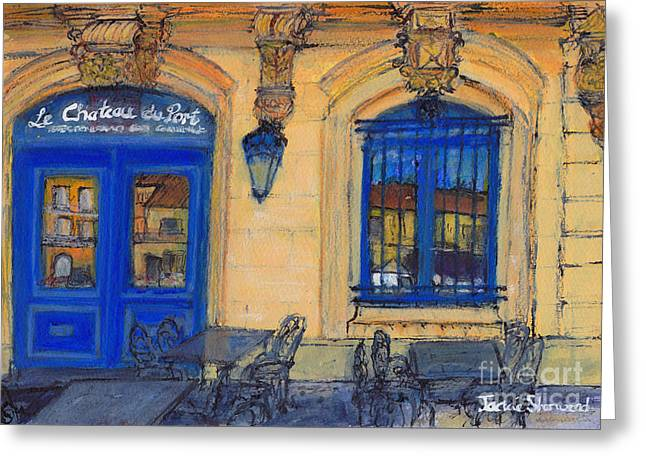 Languedoc Paintings Greeting Cards - Chateau du Port - Marseillan - France Greeting Card by Jackie Sherwood