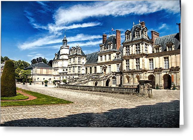 Fontainebleau Greeting Cards - Chateau Fontainebleau - France Greeting Card by Jon Berghoff