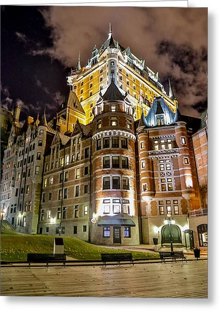 Chateau Greeting Cards - Chateau Frontenac Greeting Card by Bill Lindsay