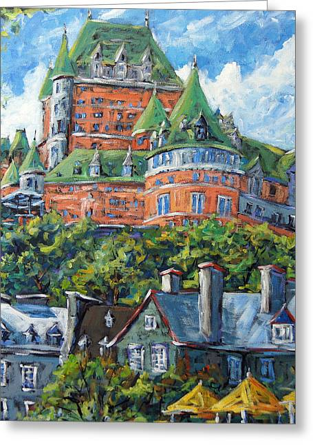 Chateau Greeting Cards - Chateau Frontenac by Prankearts Greeting Card by Richard T Pranke
