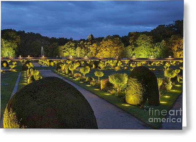 Le Jardin Greeting Cards - Chateau Garden Greeting Card by Brian Jannsen