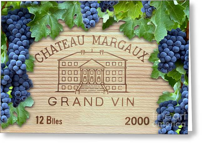 Napa Valley Vineyard Greeting Cards - Chateau Margaux Greeting Card by Jon Neidert