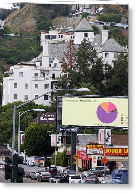 Chateau Greeting Cards - Chateau Marmont  - Sunset Blvd Greeting Card by Kathy Hutchins