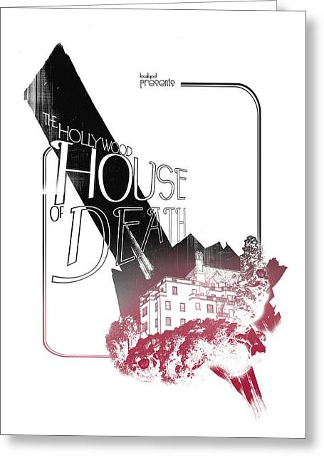 Chateau Greeting Cards - Chateau Marmont Greeting Card by Pop Culture Prophet