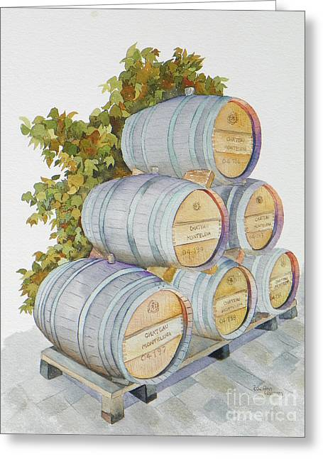 Wine Tour Greeting Cards - Chateau Montelena Greeting Card by Lou Ann Overman