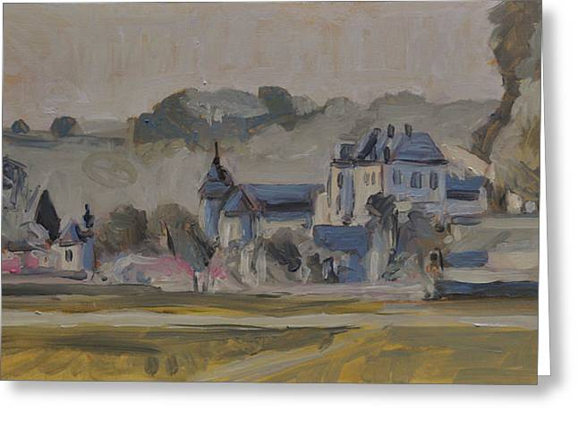 Limburg Paintings Greeting Cards - Chateau Neercanne near Maastricht Greeting Card by Nop Briex