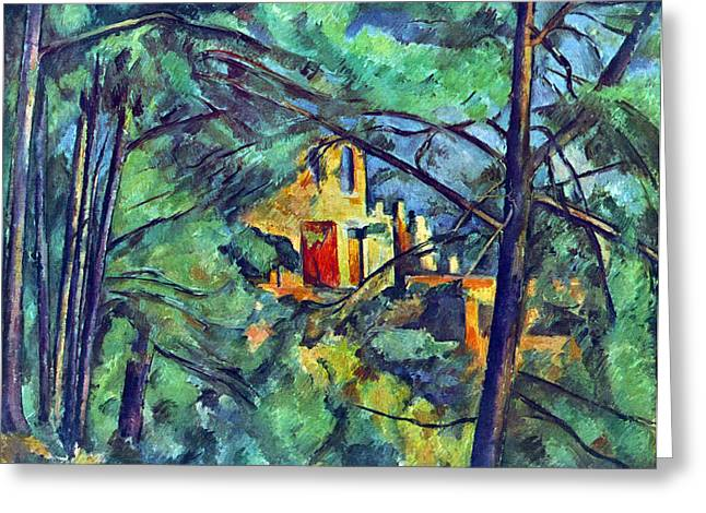 John Peter Greeting Cards - Chateau Noir by Cezanne Greeting Card by John Peter