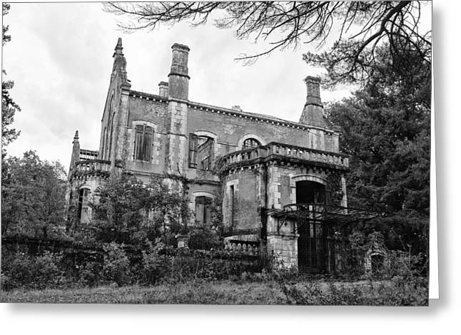 Abandoned House Greeting Cards - Chateau Ruins Greeting Card by Nomad Art And  Design