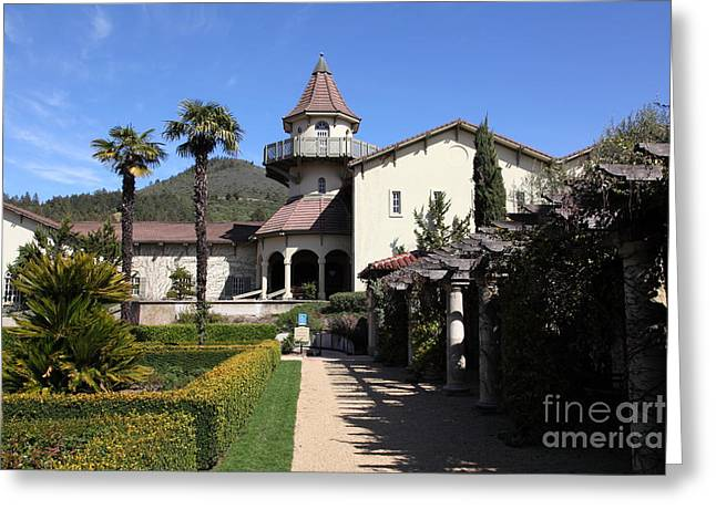 Sonoma Valley Greeting Cards - Chateau St. Jean Winery 5D22199 Greeting Card by Wingsdomain Art and Photography