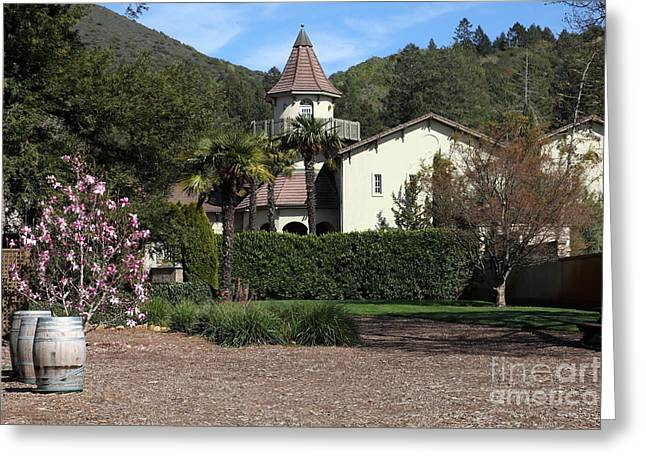 Sonoma Valley Greeting Cards - Chateau St. Jean Winery 5D22209 Greeting Card by Wingsdomain Art and Photography