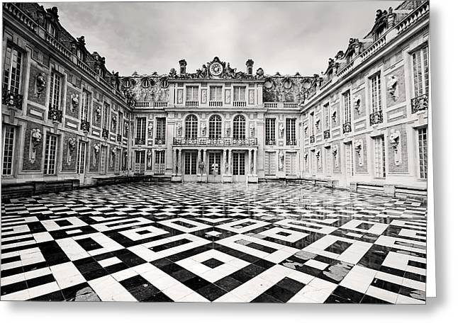 Chateau Greeting Cards - Chateau Versaille France Greeting Card by Pierre Leclerc Photography