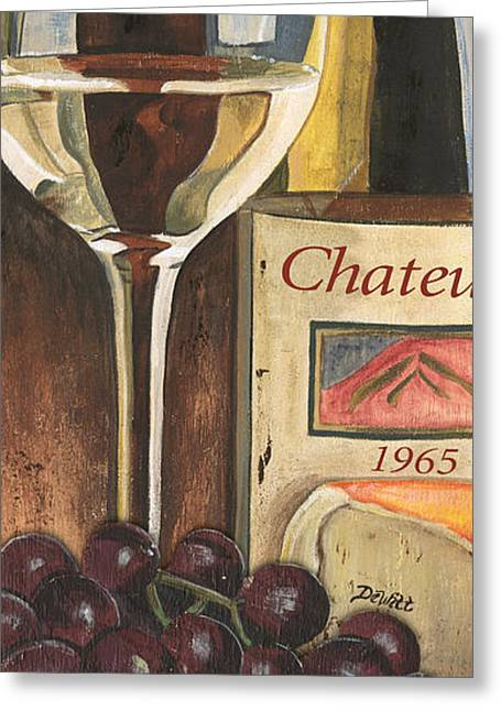 Pinot Paintings Greeting Cards - Chateux 1965 Greeting Card by Debbie DeWitt