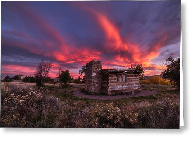 Colorado Nature Photographs Greeting Cards - Chatfield Cabin Greeting Card by Darren  White