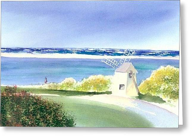 Chatham Paintings Greeting Cards - Chatham Harbor July Greeting Card by Joseph Gallant