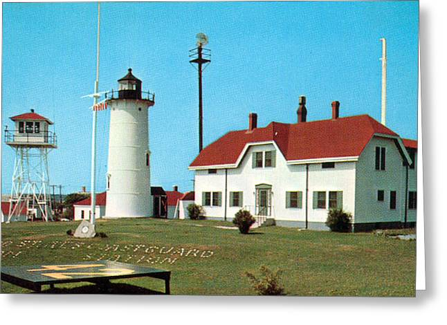 Chatham Greeting Cards - Chatham Light 1950 Greeting Card by Skip Willits