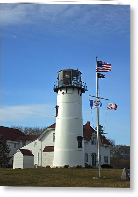Chatham Greeting Cards - Chatham Light Greeting Card by Amazing Jules