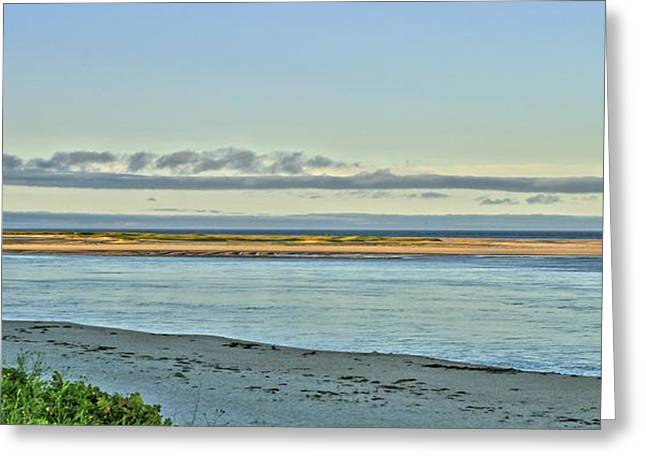 Chatham Greeting Cards - Chatham Light Beach Greeting Card by Marisa Geraghty