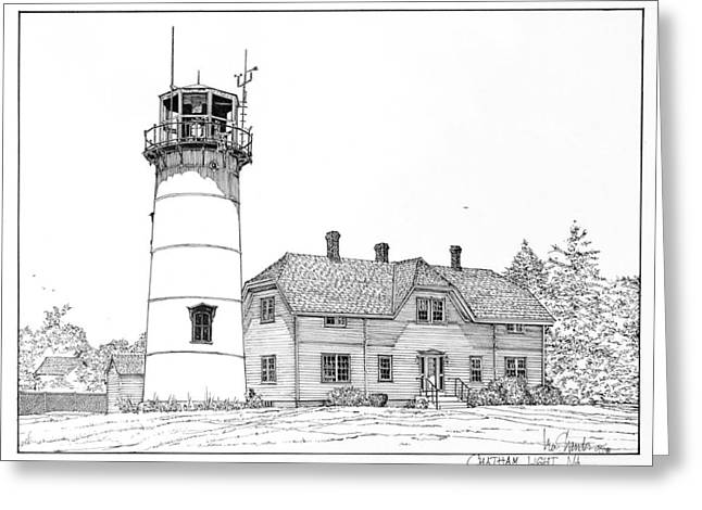 Chatham Greeting Cards - Chatham Light Greeting Card by Ira Shander
