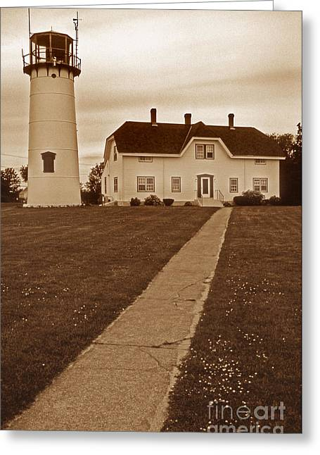 Chatham Greeting Cards - Chatham Lighthouse Greeting Card by Skip Willits