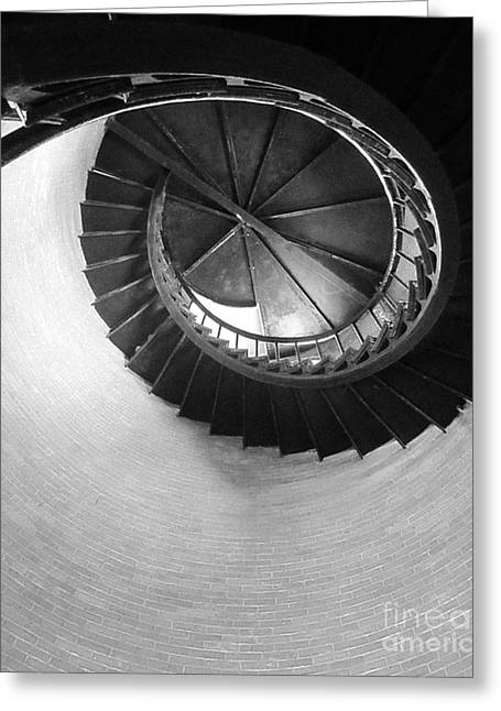 Chatham Greeting Cards - Chatham Lighthouse Staircase Greeting Card by MaryAnn Barry