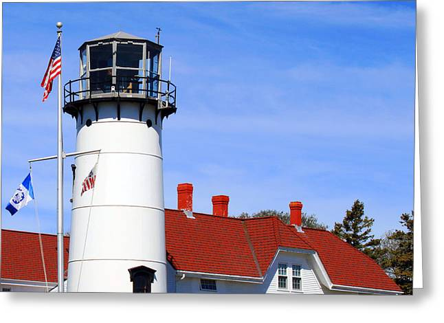 Chatham Greeting Cards - Chatham Lighthouse Greeting Card by Images by Stephanie