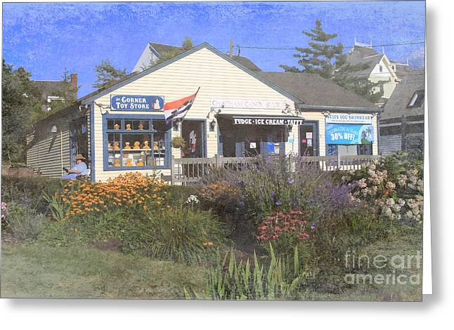 Toy Store Digital Art Greeting Cards - Chatham Shops Greeting Card by Jayne Carney