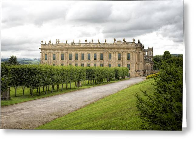 Historic Buildings Greeting Cards - Chatsworth House Greeting Card by Amanda And Christopher Elwell