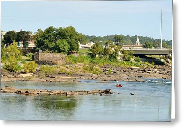 Go With The Flow Greeting Cards - Chattahoochee Greeting Card by Samantha Boren