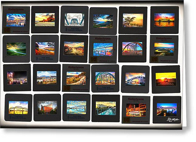 Recently Sold -  - Sunset Posters Greeting Cards - Chattanooga 24 Exposures Greeting Card by Steven Llorca