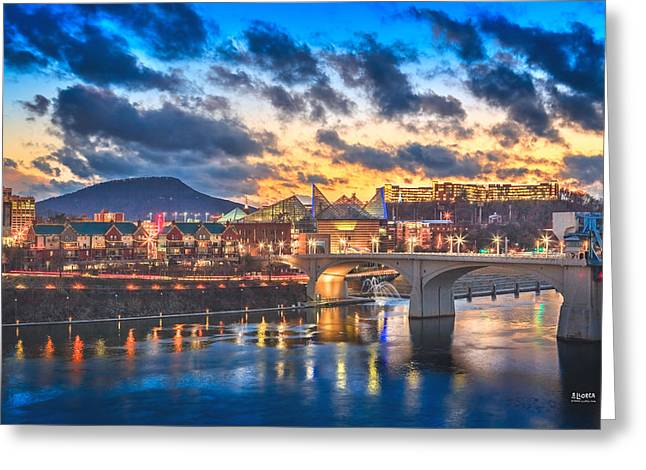 Tennessee River Greeting Cards - Chattanooga Evening After The Storm Greeting Card by Steven Llorca