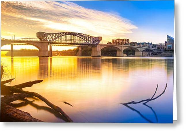 City Lights Greeting Cards - Chattanooga Sunrise 2 Greeting Card by Steven Llorca