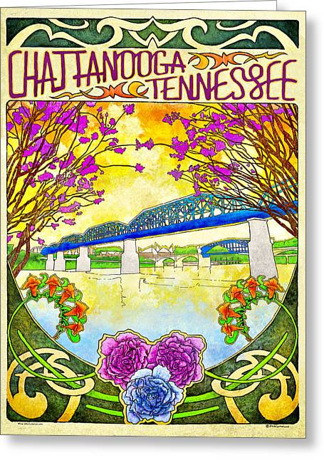 Chattanooga Greeting Cards - Chattanooga Tourism 1 Greeting Card by Steven Llorca