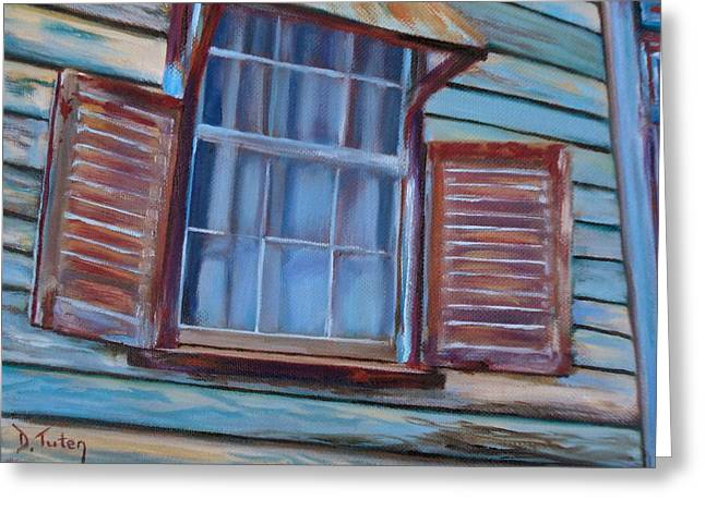 Sienna Greeting Cards - Chattel House Greeting Card by Donna Tuten