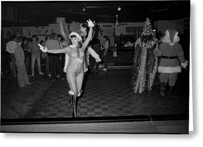 Seaside Heights Photographs Greeting Cards - Chatterbox Xmas Burlesque Review no 1 Greeting Card by David Riccardi
