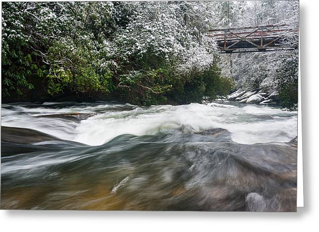 Wild And Scenic Greeting Cards - Chattooga River North Carolina Mountain Scenic Greeting Card by Mark VanDyke