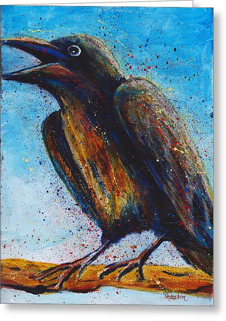 Chatty Greeting Cards - Chatty Cathy Greeting Card by Cindy Johnston