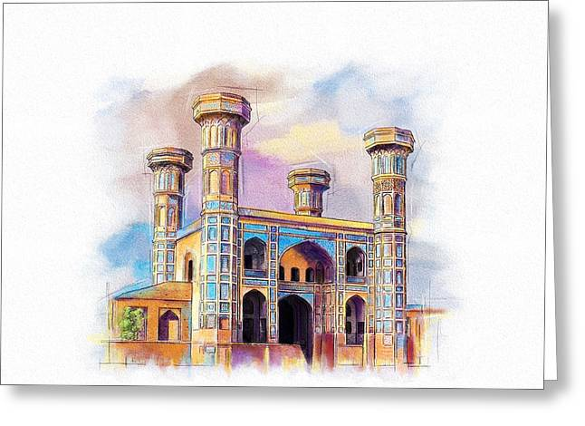 Chauburji Lahore Greeting Card by Catf