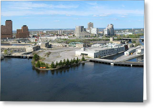 Kite Greeting Cards - Chaudiere Falls Aerial Panorama Greeting Card by Rob Huntley