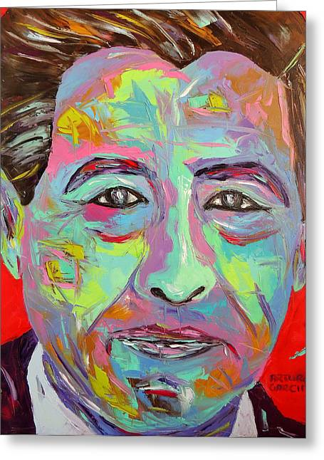 Cesar Chavez Greeting Cards - Chavez Greeting Card by Arturo Garcia