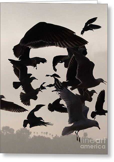 Icons Pyrography Greeting Cards - Che Greeting Card by Bijan Masoumpanah