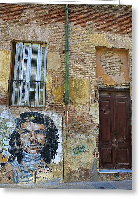 Political Decay Greeting Cards - Che Guavara Street Art in San Telmo Greeting Card by Venetia Featherstone-Witty