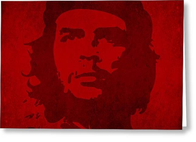 Politics Prints Digital Art Greeting Cards - Che Guevara Greeting Card by Humphrey King