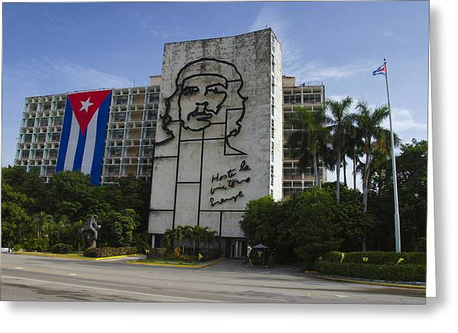 Marxism Greeting Cards - Che Guevara in Havana Greeting Card by Brian Kamprath