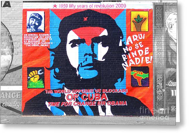 Marxism Greeting Cards - Che Guevara Greeting Card by Nina Ficur Feenan