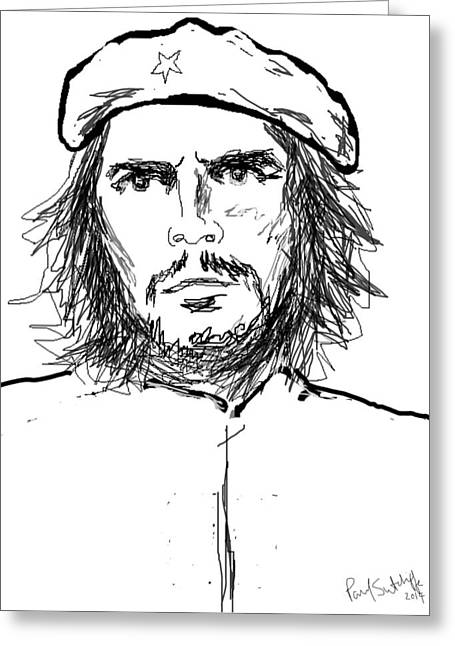 Brigade Greeting Cards - Che Guevara  Greeting Card by Paul Sutcliffe